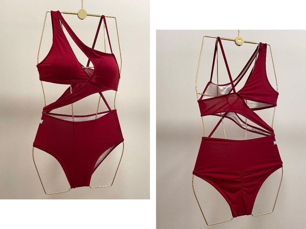 Swimwear/underwear rose color image-S7L2
